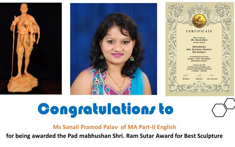 Congratulations Sonali MA Part II english