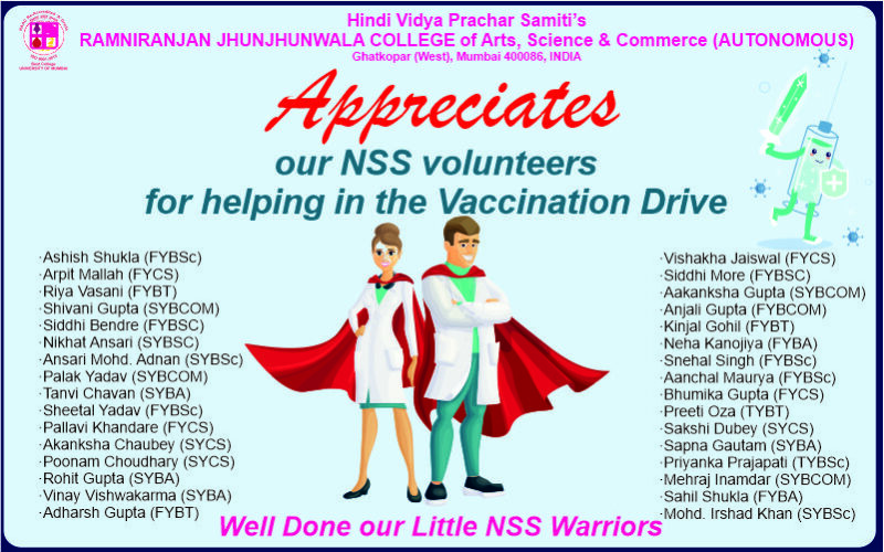 RJCollege NSS Appreciation